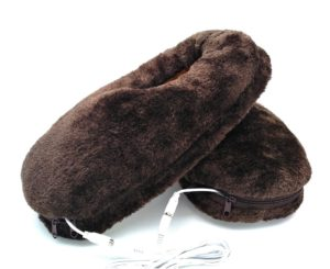 God's Hand 1 Pair USB Electric Heating Slipper Heated Plush Shoe for Feet Cold Relief Winter