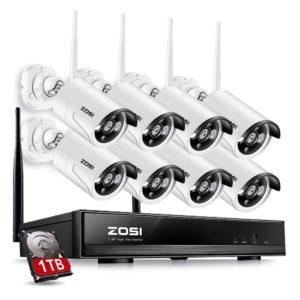 ZOSI 8CH wireless security cameras