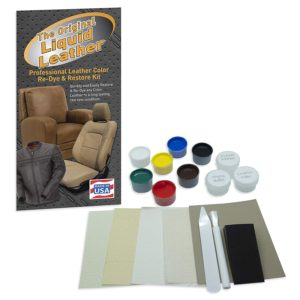 Repair kit for liquid leather