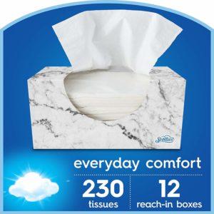 Scotties Everyday Comfort Facial Tissues, 230 Tissues per Box