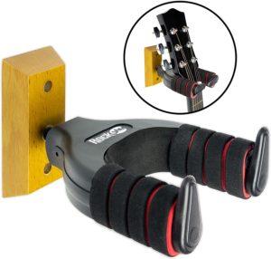 RockJam Guitar Hanger and Wall Mount Bracket Holder for Acoustic and Electric Guitars