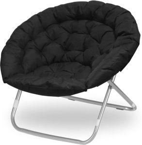 Urban-Shop-Oversized-Saucer-Chair-Black