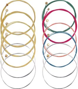 Bememo 2 Sets of 6 Guitar Strings Replacement Steel String for Acoustic Guitar