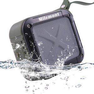 Milemont Shower Bluetooth Speaker, Wireless Waterproof Bluetooth Speaker, Lightweight and Portable Outdoor Stereo Wireless Bluetooth Speaker