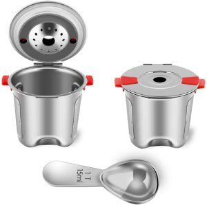 Reusable K Cups Fit for Keurig 2.0 and 1.0 Coffee Maker - Stainless Steel K Cup Reusable