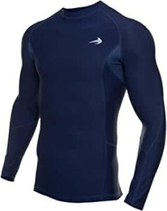 compression Men's Quick Dry Compression Long Sleeve Baselayer Athletic Shirt
