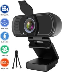 Hrayzan 1080P HD Webcam with Privacy Cover and Tripod