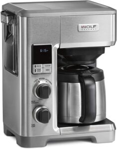 Wolf Gourmet Programmable Coffee Maker System with 10 Cup Thermal Carafe