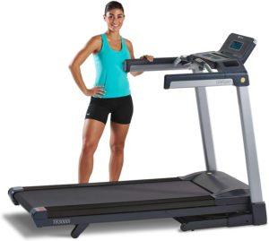 LifeSpan Fitness LifeSpan TR3000i Touch Folding Treadmill, Gray Black